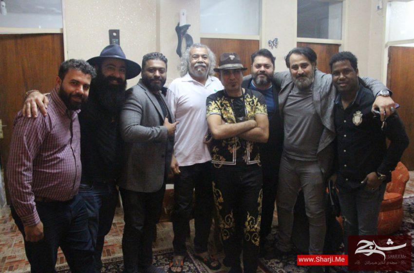 دیدار هنرمندان موسیقی هرمزگان با حمید سعید